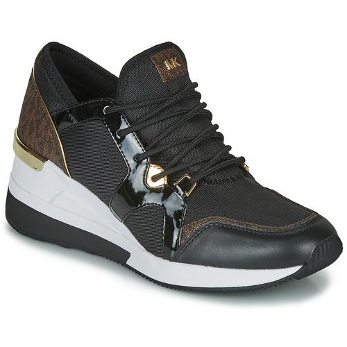 Schoenen Dames Lage sneakers MICHAEL Michael Kors LIV TRAINER Zwart / Bruin