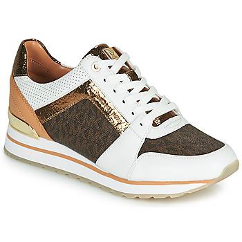 Schoenen Dames Lage sneakers MICHAEL Michael Kors BILLIE TRAINER Wit / Bruin