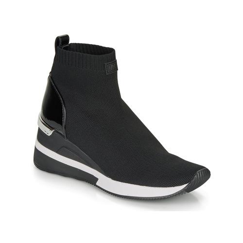 Schoenen Dames Hoge sneakers MICHAEL Michael Kors SKYLER Zwart