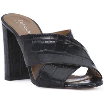 Schoenen Dames Leren slippers Priv Lab NERO KAIMAN Nero