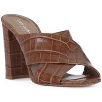 Schoenen Dames Leren slippers Priv Lab CUOIO KAIMAN Marrone