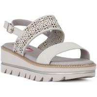 Schoenen Dames Sandalen / Open schoenen CallagHan GREIGE LONG BEACH Grigio