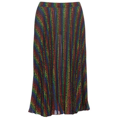 Textiel Dames Rokken MICHAEL Michael Kors MULTI LOGO PLEAT SKRT Multicolour