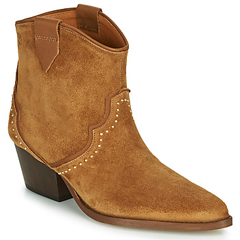 Schoenen Dames Enkellaarzen Betty London LOUELLA Camel