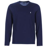 Textiel Heren T-shirts met lange mouwen Ralph Lauren L/S CREW-CREW-SLEEP TOP Marine