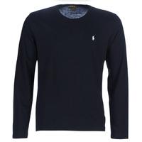 Textiel Heren T-shirts met lange mouwen Polo Ralph Lauren L/S CREW-CREW-SLEEP TOP Zwart