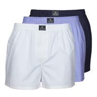 Ondergoed Heren BH's Polo Ralph Lauren OPEN BOXER-3 PACK-BOXER Wit / Blauw / Marine