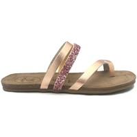 Schoenen Dames slippers Amoa sandales LORGUES Rose/Glit Roze