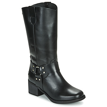 Schoenen Dames Hoge laarzen Musse & Cloud AUSTIN Zwart