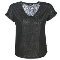 Textiel Dames T-shirts korte mouwen Le Temps des Cerises OKINAWA Zwart