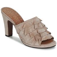 Schoenen Dames Leren slippers Chie Mihara ABEJA Beige