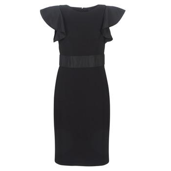 Textiel Dames Korte jurken Lauren Ralph Lauren JERSEY SLEEVELESS COCKTAIL DRESS Zwart