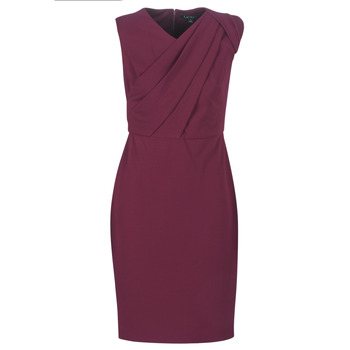 Textiel Dames Lange jurken Lauren Ralph Lauren RUBY SLEEVELESS DAY DRESS Bordeau