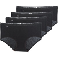 Ondergoed Dames Slips Sloggi BASIC+ X 4 Zwart