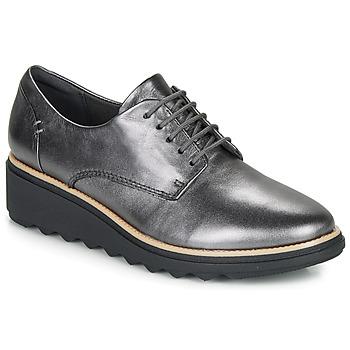 Schoenen Dames Derby Clarks SHARON NOEL Zilver