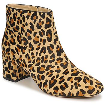 Schoenen Dames Enkellaarzen Clarks SHEER FLORA Luipaard