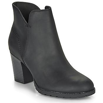 Schoenen Dames Enkellaarzen Clarks VERONA TRISH Zwart