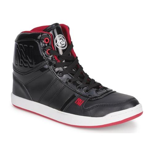 Schoenen Dames Hoge sneakers Dorotennis BASKET CUIR NAPPA PU VERN Zwart