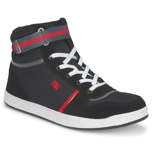 Schoenen Dames Hoge sneakers Dorotennis BASKET NYLON ATTACHE Zwart
