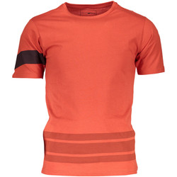 Textiel Heren T-shirts korte mouwen Gas GATS01STRIPES AB30 ORANGE MANDARIN