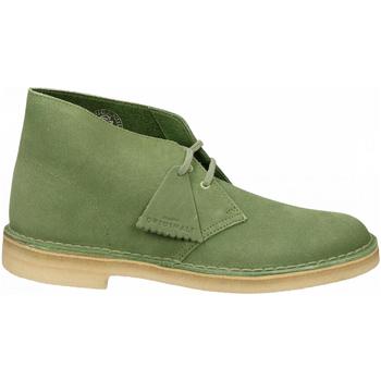 Schoenen Heren Laarzen Clarks DESERT BOOT M SUEDE cactus-green