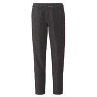 Textiel Dames 5 zakken broeken Maison Scotch TAPERED LUREX PANTS WITH VELVET SIDE PANEL Grijs