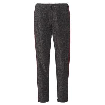 Textiel Dames 5 zakken broeken Maison Scotch TAPERED LUREX PANTS WITH VELVET SIDE PANEL Grijs