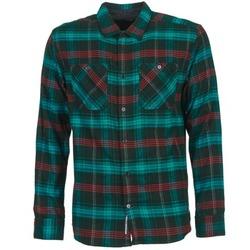 Textiel Heren Overhemden lange mouwen DC Shoes VIBRATION Zwart / Blauw / Rood