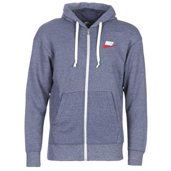 Textiel Heren Sweaters / Sweatshirts Nike M NSW HERITAGE HOODIE FZ Marine
