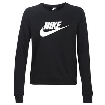 Textiel Dames Sweaters / Sweatshirts Nike W NSW ESSNTL CREW FLC HBR Zwart