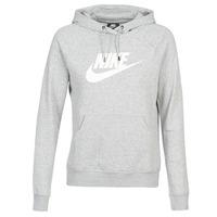Textiel Dames Sweaters / Sweatshirts Nike W NSW ESSNTL HOODIE PO  HBR Grijs