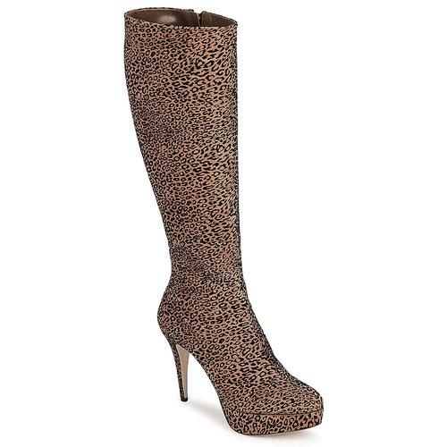 Schoenen Dames Hoge laarzen Sebastian FLOC-LEO Luipaard