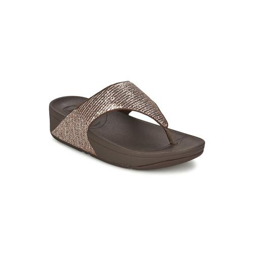 Schoenen Dames Sandalen / Open schoenen FitFlop LULU™ SUPERGLITZ Brons