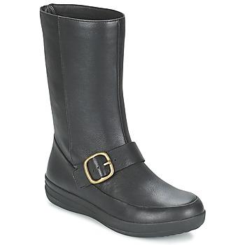 Schoenen Dames Laarzen FitFlop FF-LUX BIKER Zwart