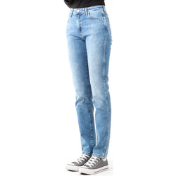 Textiel Dames Skinny Jeans Wrangler Boyfriend Best Blue W27M9194O blue