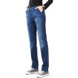 Textiel Dames Skinny Jeans Wrangler Slouchy Cosy Blue W27CGM82G navy