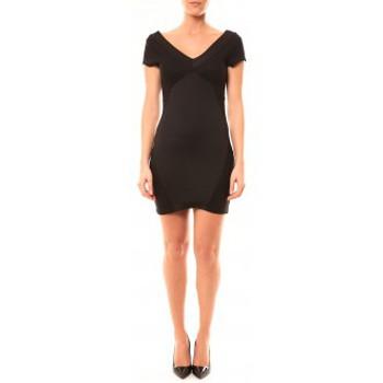 Textiel Dames Korte jurken Vera & Lucy Robe Lucce LC-0312 Noir Zwart