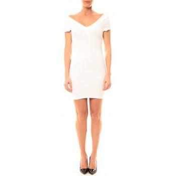 Textiel Dames Korte jurken Vera & Lucy Robe Lucce LC-0312 Blanc Wit