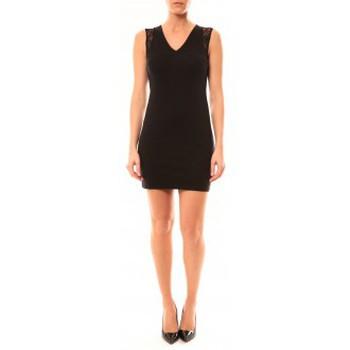 Textiel Dames Korte jurken Vera & Lucy Robe Enzoria 9252 Noir Zwart