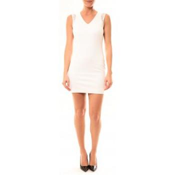 Textiel Dames Korte jurken Vera & Lucy Robe Enzoria 9252 Blanc Wit