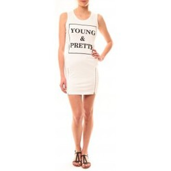 Textiel Dames Korte jurken Vera & Lucy Robe Young MC1577 Blanc Wit