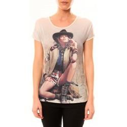 Textiel Dames T-shirts korte mouwen By La Vitrine Top Cowboy 1103 Beige Beige