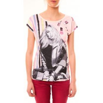 Textiel Dames T-shirts korte mouwen By La Vitrine Top Clara 1104 Beige Beige