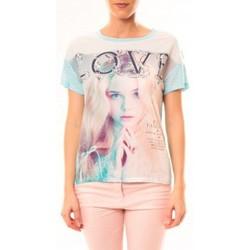 Textiel Dames T-shirts korte mouwen By La Vitrine Top Love B002 Vert Groen