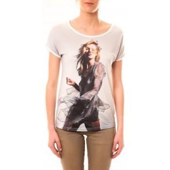 Textiel Dames T-shirts korte mouwen By La Vitrine Tee-shirt MC1497 Blanc Wit