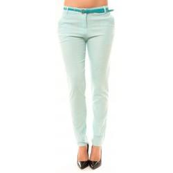 Textiel Dames 5 zakken broeken Dress Code Pantalon Luizaco L705 Vert Groen