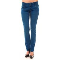Textiel Dames Straight jeans Dress Code Jeans Rremixx RX320 Bleu Blauw