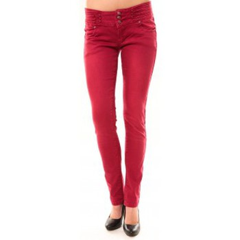 Textiel Dames Straight jeans Dress Code Jeans Rremixx RX320 Rouge Rood