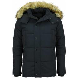 Textiel Heren Dons gevoerde jassen Enos Winterjas Bontkraag Blauw