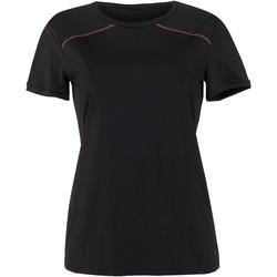 Textiel Dames T-shirts korte mouwen Lisca Energy  Cheek sport t-shirt met korte mouwen zwart Parelmoer Zwart